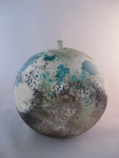 Moon Jar - glazed & smoke fired